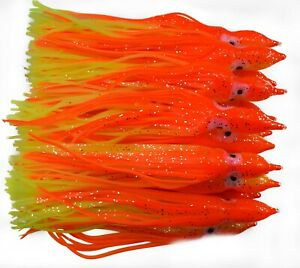 Octopus Squid Skirt Soft Lure 6in15cm Hoochies Bait Saltwater Fish Lure O