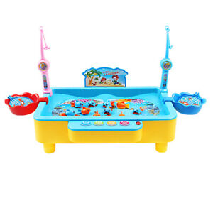 Deluxe Fishing Game Set Electric Magnetic Rod Water Fun Toy for Boys Girl