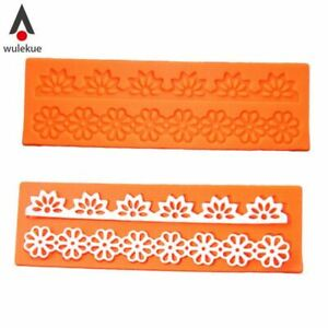 Lovely Lace Silicone Sugar Mold Baking Flower Border Mat Cake Decoration