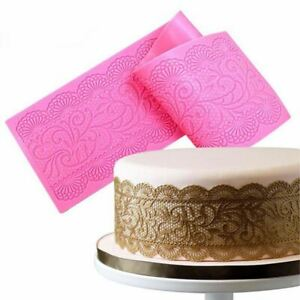 Flower Silicone Lace Cake Tools Impression Cake Decor Bake Emboss Mat Cra