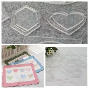 Set Of 54 Acrylic Template Quilting Sewing Ruler DIY Tool For Patchwork Craft $8.13