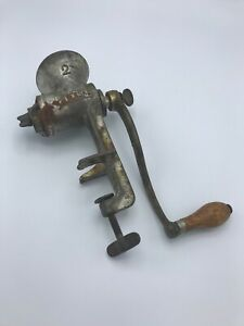 Vintage Meat Grinder And Food Cast Iron Universal Number 2