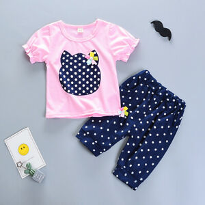 Kids Girls Cute Clothing Sets Baby Girls Casual Sport Suit For Toddler Tracksuit