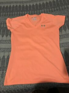 UNDER ARMOUR T-Shirt Orange Short Sleeve Girls XSTP