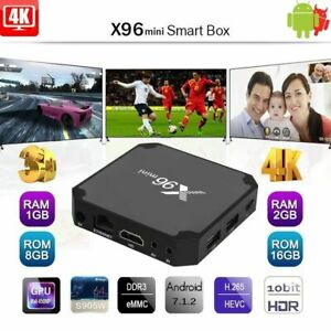 X96 mini Android 7.1 TV BOX 1GB 8GB 2GB 16GB Quad Core S905W 4K WIFI USA U2X4K