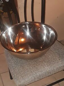 Stainless Steel Metal Deep Mixing Bowls Caterer Salad Spaghetti Pasta 28cm