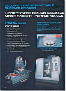 Rotary Surface Grinder PROTH mdl 600H CNC control 600mm NOTE: 350mm Radius cap.