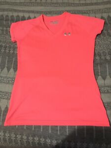 UNDER ARMOUR T-Shirt Strawberry Pink Short Sleeve Girls XSTP
