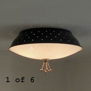 768b 50s 60's Vintage Ceiling Light Lamp Fixture atomic mid-century eames
