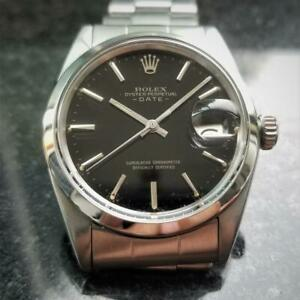 ROLEX Men's Oyster Perpetual Date 1500 26J Automatic c.1961 Swiss Vintage LV788