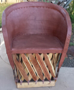 Standard Equipale Rustic Mexican Leather Back Chair Tobacco Finish 005T