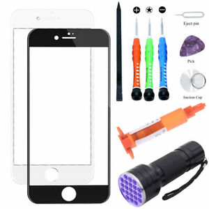 For Apple iPhone 8Plus 8 Front Outer Screen Glass Lens Replacement Loca UV Glue
