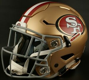 SAN FRANCISCO 49ers NFL Authentic GAMEDAY Football Helmet w SF-2EG-SW Facemask