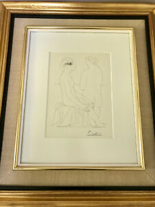 Pablo Picasso hand signed Suite Vollard lithograph