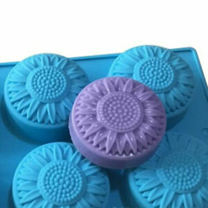 Sunflower Chocolate Candy Cake Pan Silicone Mould Soap Mold Making Chic Gift
