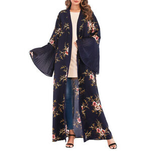 1PC Women Lady Spring Waistband Soft Trumpet Sleeve Fashion One Piece Maxi Dress