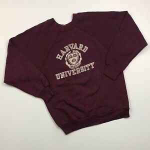 VINTAGE 80s CHAMPION ACRYLIC HARVARD UNIVERSITY COLLEGE MADE IN USA SWEATSHIRT