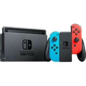 Nintendo Switch Console w Neon Blue and Red Joy-Con - HACSKABAA