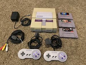 SNES Super Nintendo Console System Complete w + Super Mario World **TESTED**