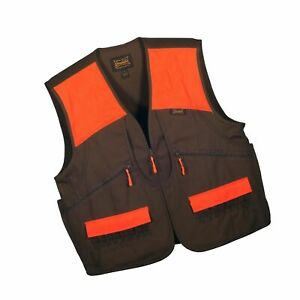 Gamehide Switchgrass Upland Field Bird Hunting Vest Chestnut BrownOrange Large