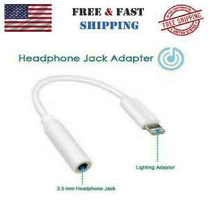 For iPhone7 8 X XS Headphone Adapter Jack Lightning to 3.5mm Cord Dongle USA