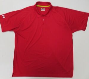 Under Armour Catalyst Polo Golf Shirt Mens XL Red Striped Short Sleeve $19.99