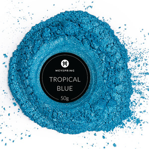 MEYSPRING Tropical Blue Mica Powder for Epoxy Resin Color Pigment Resin Dye $14.99