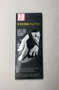 Under Armour Men's CoolSwitch Golf Glove White Black Right Hand Medium