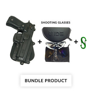 BUNDLE Fobus BR-2 LH Left Hand Holster for Beretta 92F96 without rails