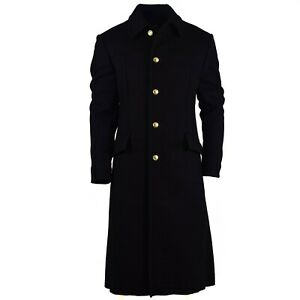 Genuine Russian army Wool Overcoat Black long military officer Navy marines NEW