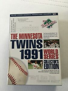 The Minnesota Twins 1991 World Series DVD (7 Disc Set) MLB Not SEALED NEW Rare