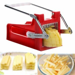 Stainless Steel French Fry Cutter Potato Vegetable Slicer Chopper Dicer 2 Blades