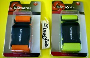 "Samsonite Luggage Strap Belt Travel Accessory Neon Green Juicy Orange 72"" ABS $13.49"