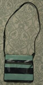 Merona Crossbody Handbag Adjustable Strap Blue and Green