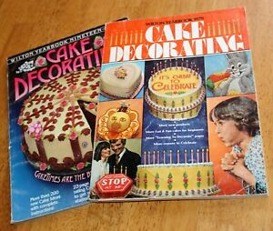 Wilton YEARBOOK OF CAKE DECORATING Set2 - 1979 & 1980 Issues - Designs Recipes