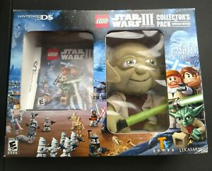 LEGO Star Wars 3 Collectors Pack With Yoda Plush (Nintendo DS 2012) New Sealed