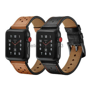 Premium Genuine Leather Watch Band Strap For Apple Watch Series 4 3 2 44mm 42mm