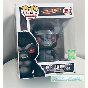 Funko Pop! Television Flash GORILLA GRODD (353) SDCC 2016 Exclusive (shelf Wear)