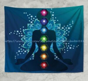 chakras healing yoga meditation wall hanging tapestry window tapestry