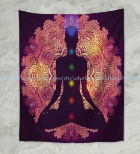 wall deco chakras healing yoga meditation wall hanging tapestry