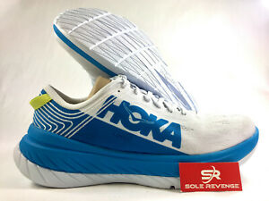 NEW! Mens (DM) HOKA ONE ONE CARBON X White Dresden Blue Running Shoes
