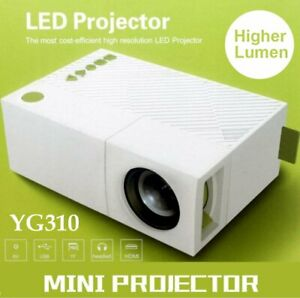 YG310 Mini Portable Multimedia LED LCD Projector Full HD 1080P Home Theater USB