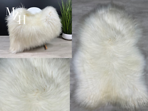 XXL Icelandic Sheepskin Cream White Rug Pelt Genuine Leather Seat Cover Throw $119.95