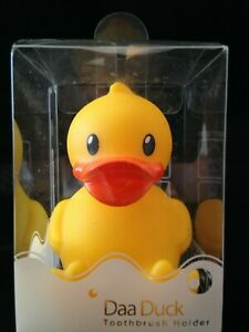 Yellow Rubber Duck TOOTHBRUSH HOLDER suction cup on mirror Cute Bathroom Decor