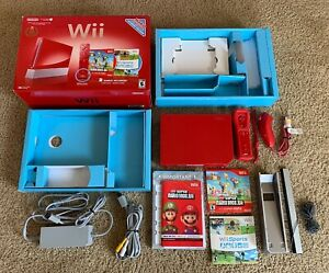 Nintendo Wii Limited Edition Red Mario 25th Anniversary Console CIB Works Great!