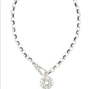 John Hardy Sterling Silver 925 Kali Dot Doughnut Charm Necklace 18 Inches