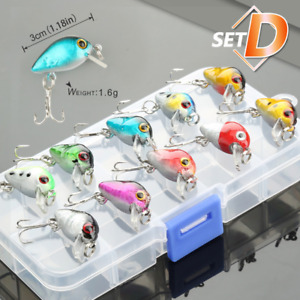 High quality Topwater Saltwater Fishing Lures Lot Bait Kit With Box Treble Hook