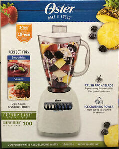 NEW Oster Blender 6 Cup Capacity 10 Speed Black