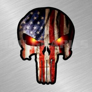 Punisher Skull Flag Vinyl Decal Sticker American Gun Truck Car Laptop Military