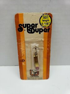 VINTAGE LUHR-JENSEN SUPER DUPER 501 BRASS RED HEAD IN PACKAGE